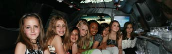 Kids party limo hire